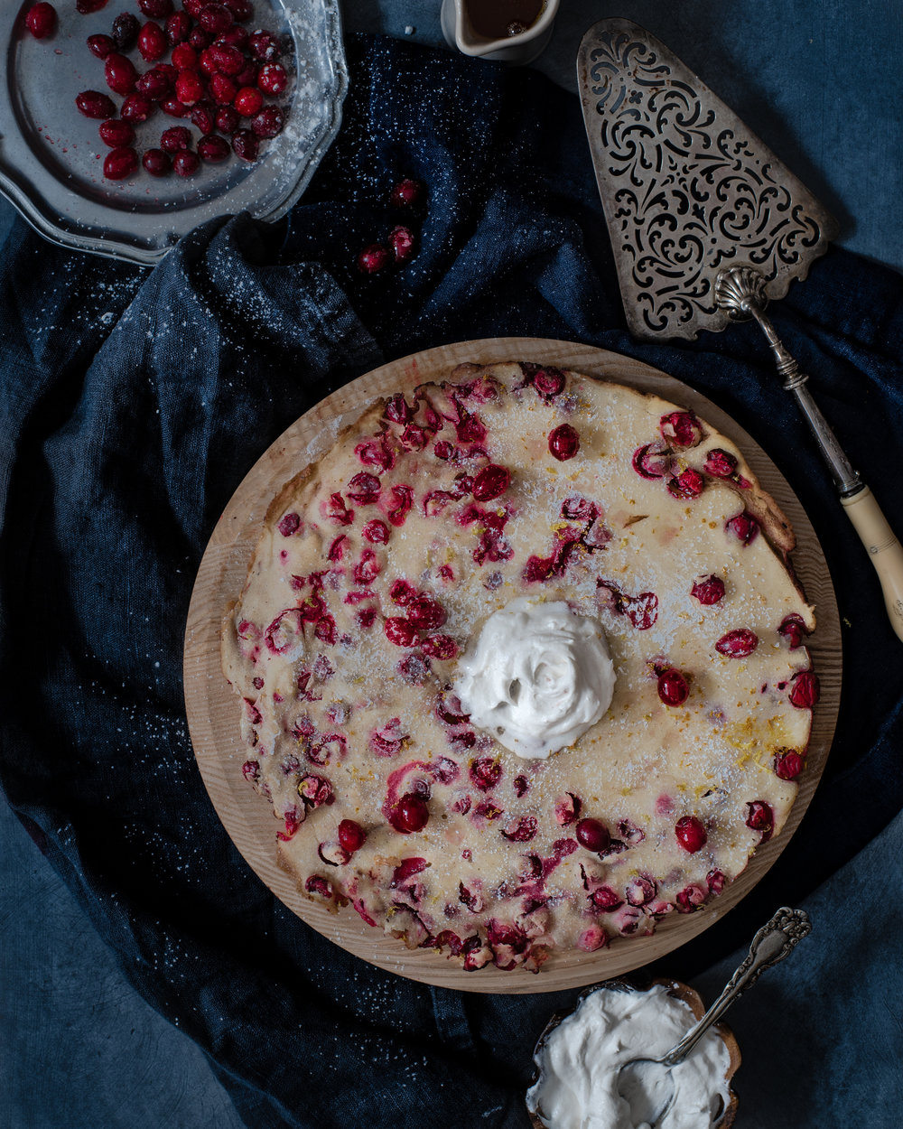 Spiced Cranberry Dutch Baby - V