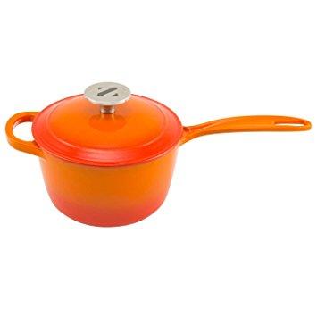 Zelancio 2 qt Cast Iron Saucepan - my favorite saucepan - it's cast iron and induction-friendly