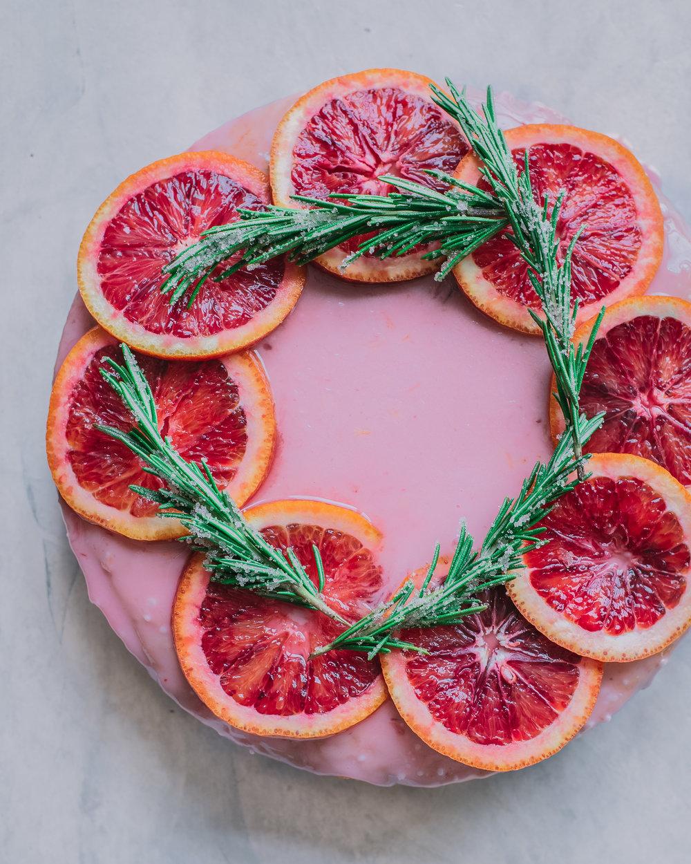 Blood Orange Olive Oil Cake - V