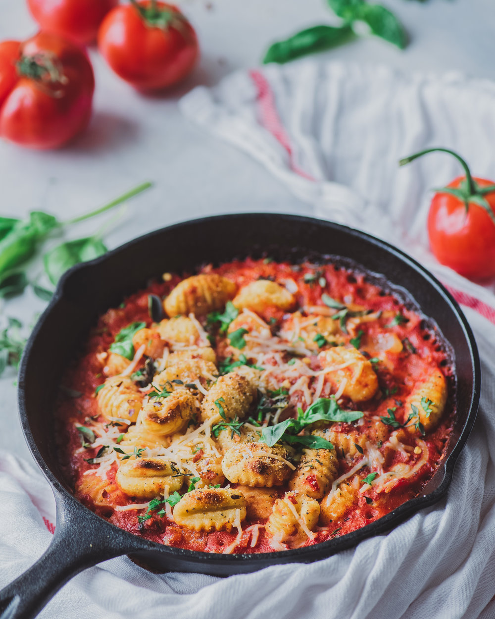 vegan gnocchi - gnocchi with arrabbiata sauce