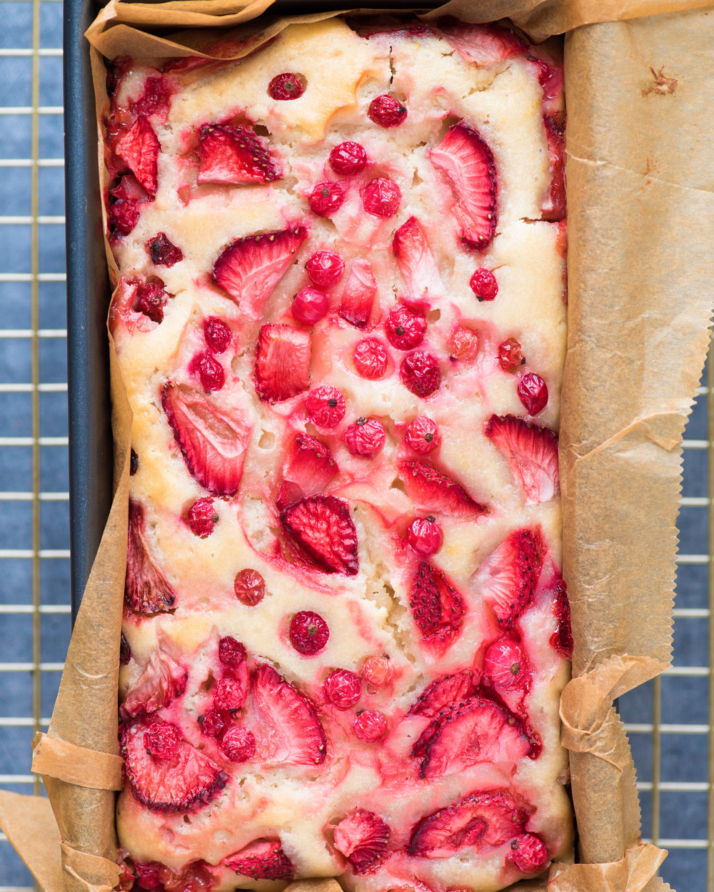 Strawberry Lemon Red Currant Loaf (Vegan)