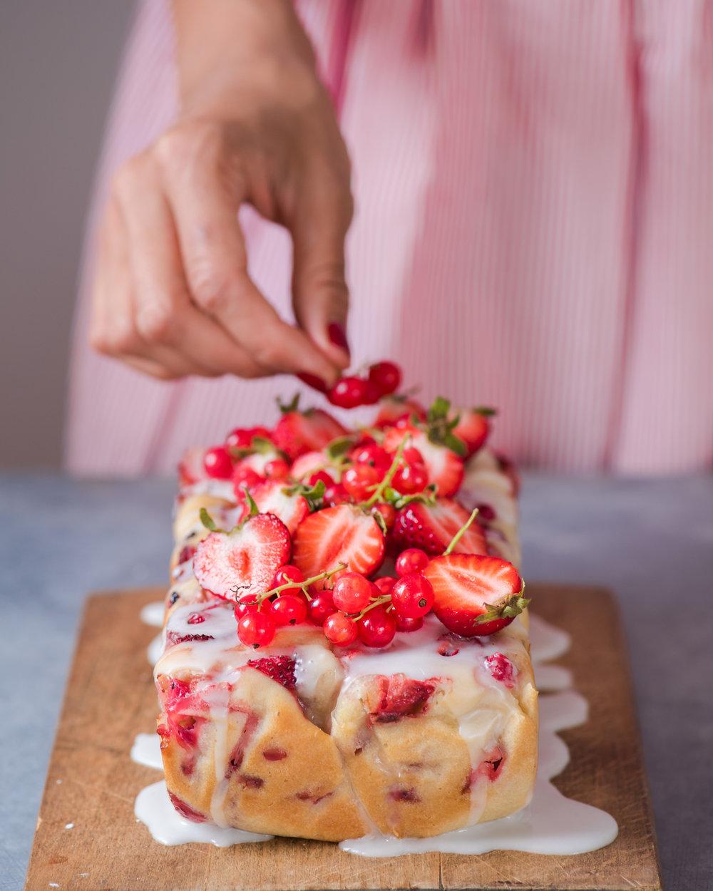 Strawberry Lemon Currant Loaf - V