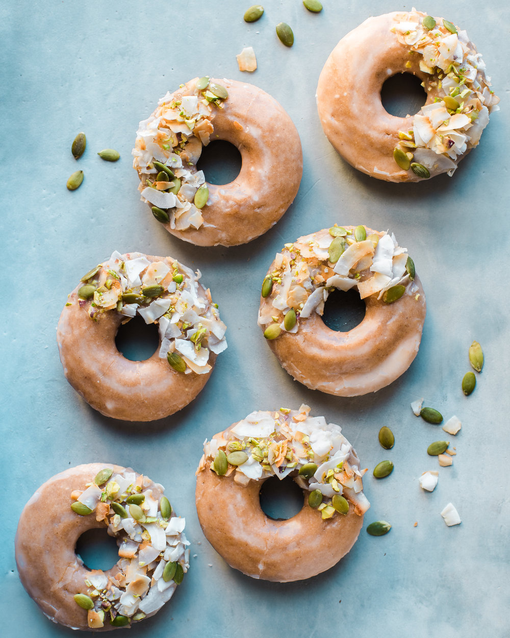 Apple Spice Baked Vegan Donuts