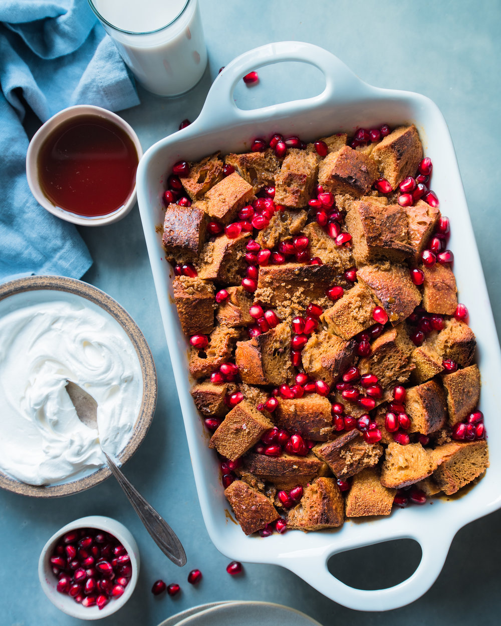 Vegan Overnight Gingerbread French Toast Casserole