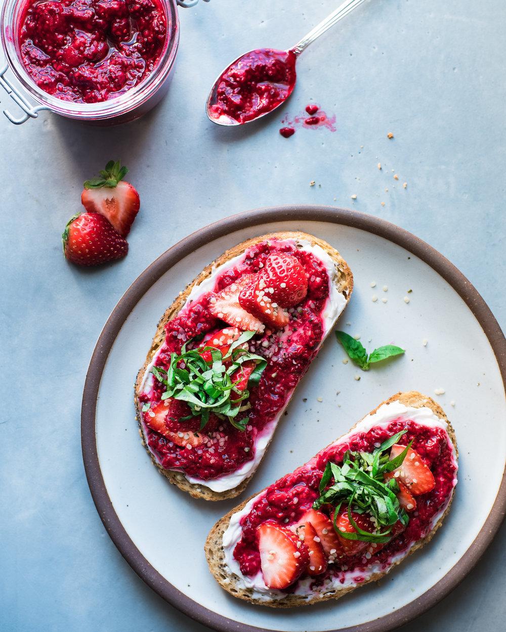 Raspberry Chia Jam - Vegan, Gluten-Free, Paleo