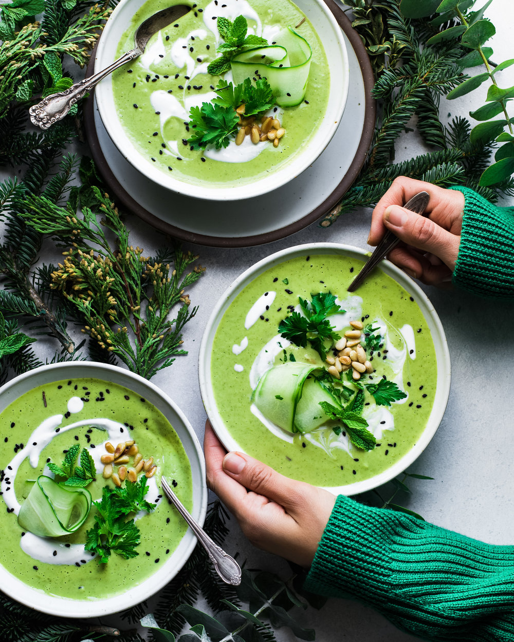 Green Goddess Soup - V, GF, P