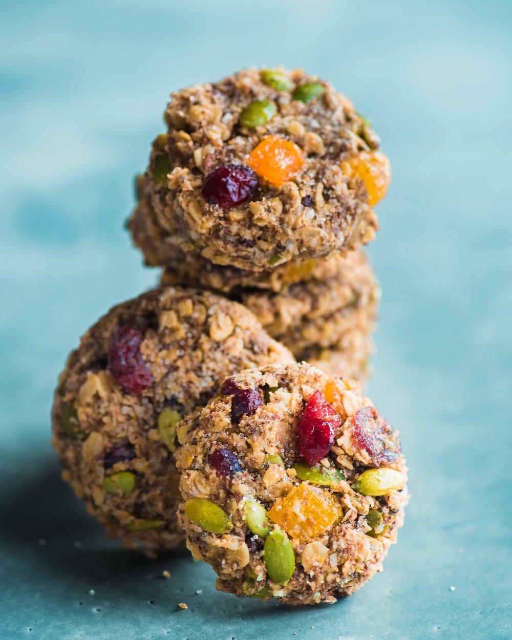 Spiced Breakfast Cookies - V, GF