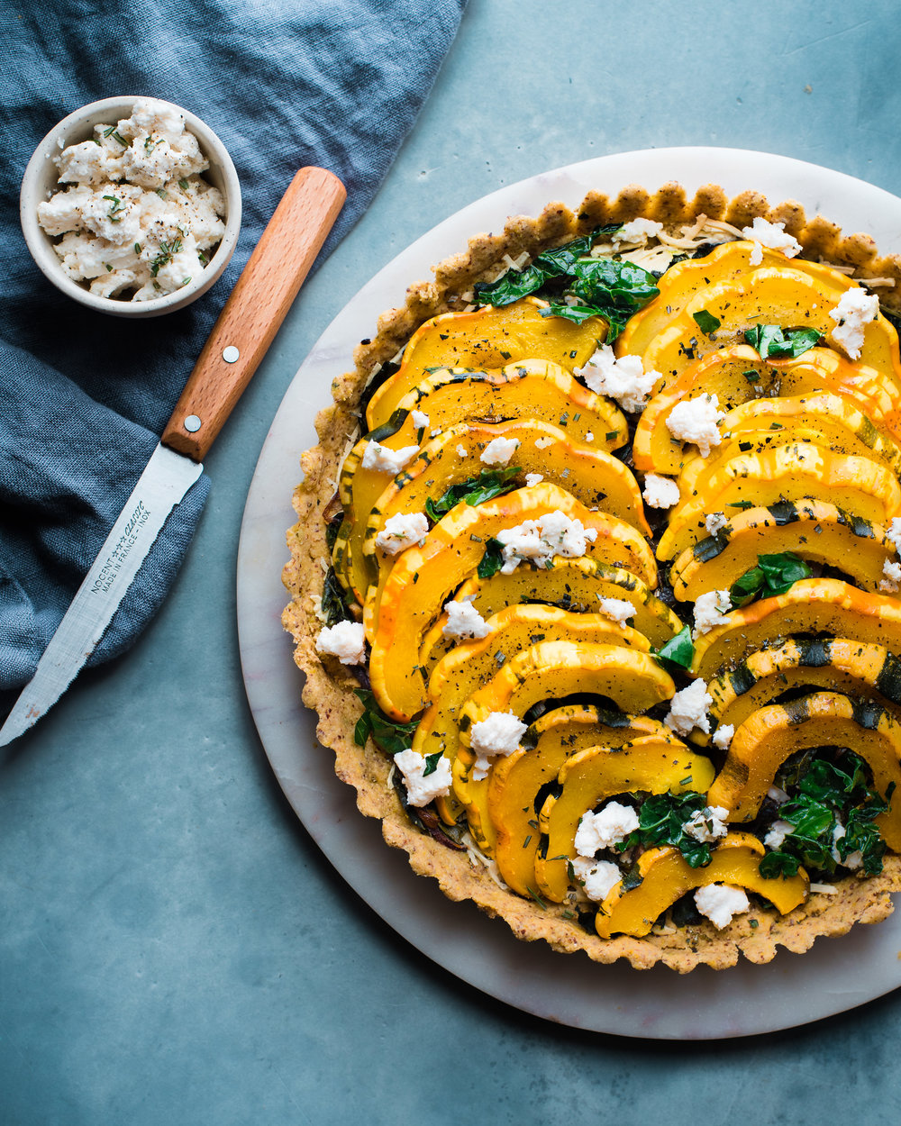 Cheesy Kale & Winter Squash Tart - V, GF