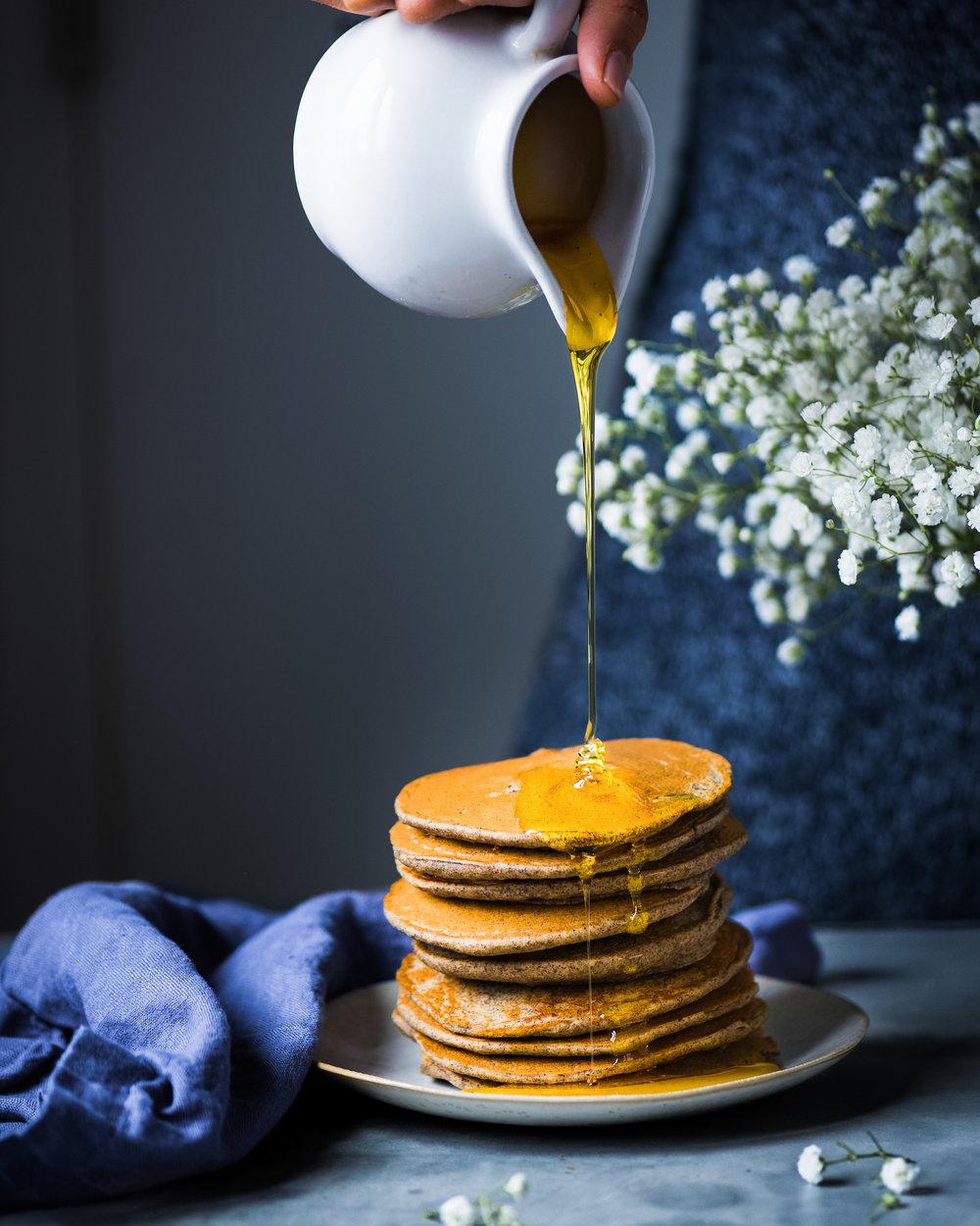 Vegan Quinoa Buckwheat Pancakes