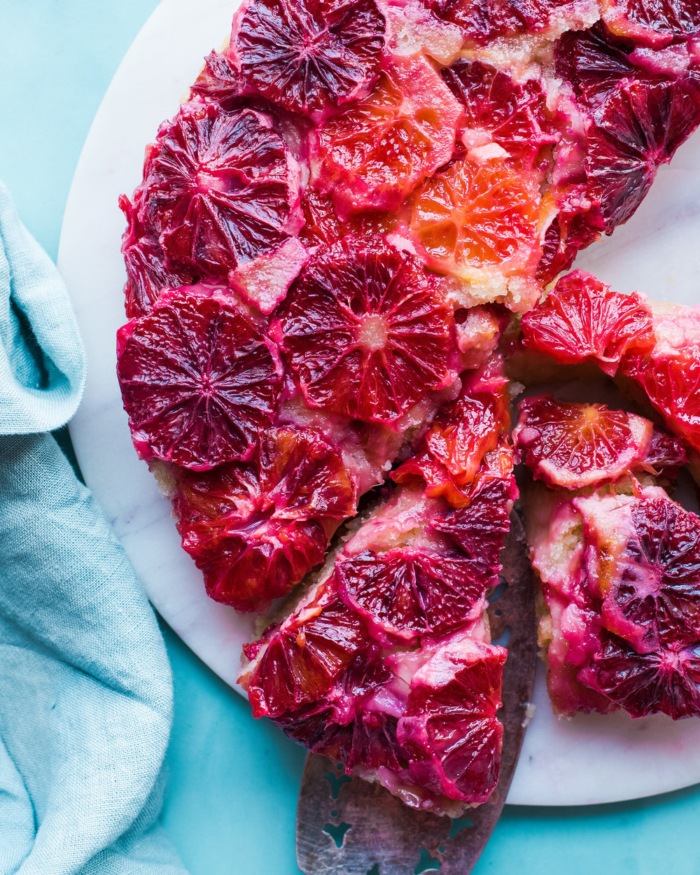 Vegan Blood Orange Upside-Down Cake