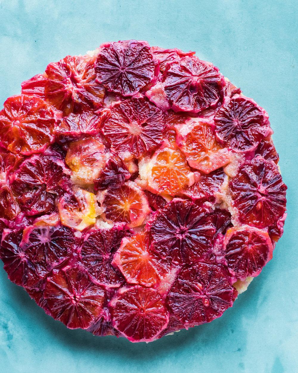 Vegan Blood Orange Upside-Down Cake