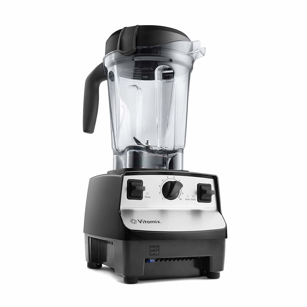 Vitamix (low-profile container) - This model is older so you can buy it certified refurbished for half the price of a new one. It works great for smoothies, sauces, soups, and even desserts