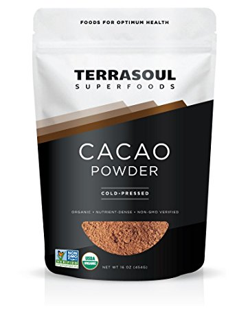 Raw Cacao Powder - my favorite superfood - i use this for hot chocolate, smoothies, and raw desserts