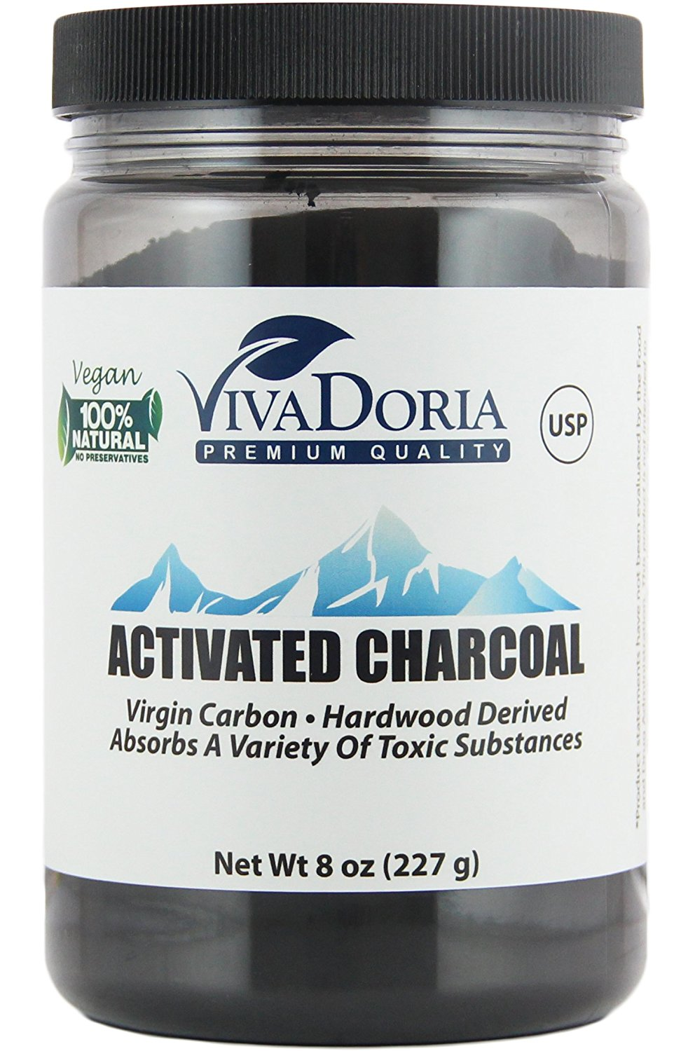 Activated Charcoal - Food grade activated charcoal that I use for digestive health and regularity