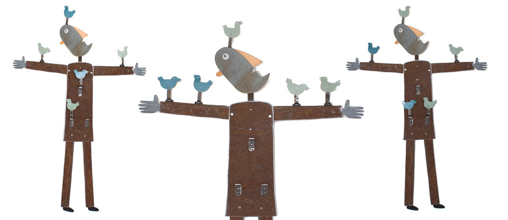 Man As Birdhouse