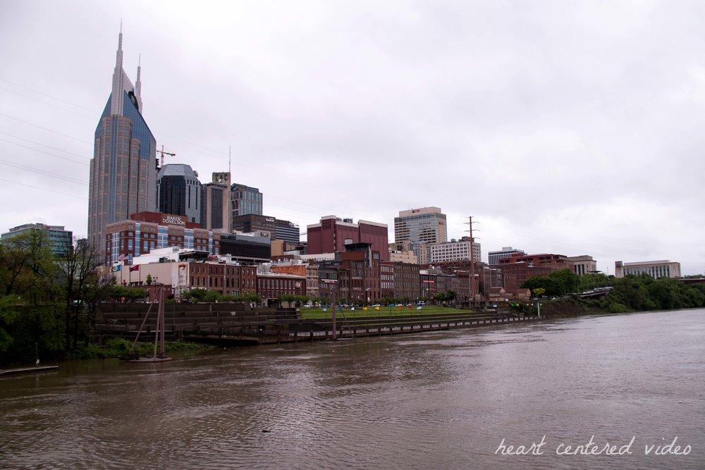 Nashville Tennessee city scape sky line