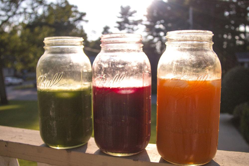 Juice mason jars