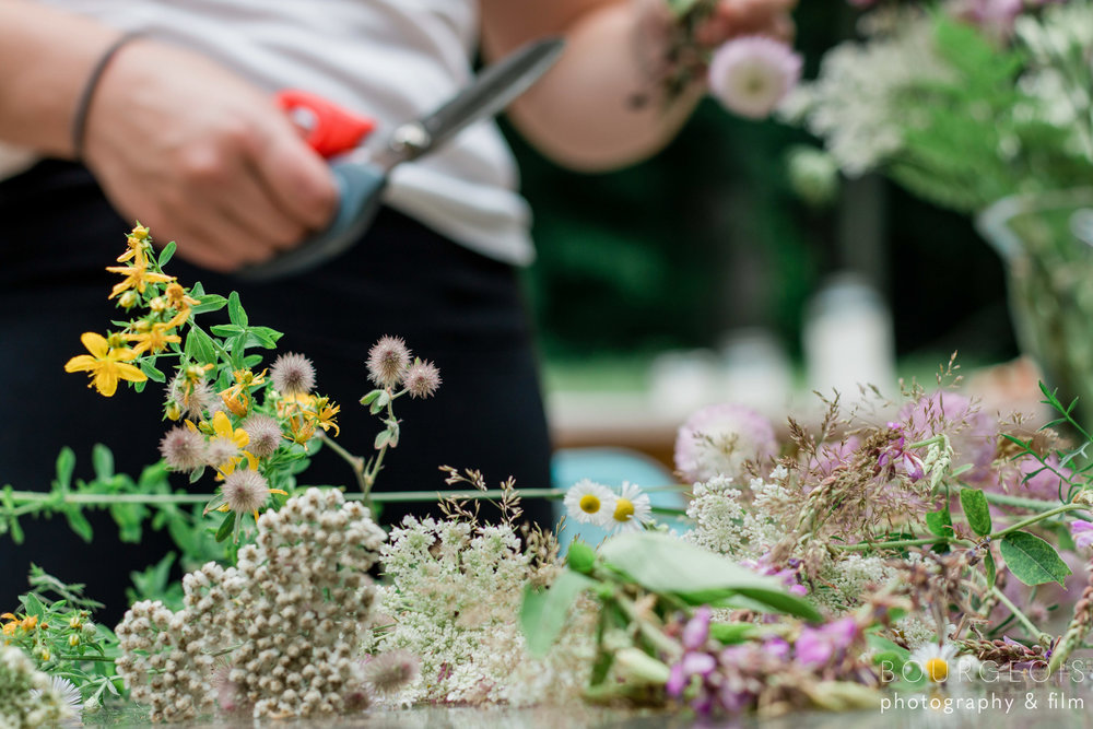 cutting flowers lifestyle photography