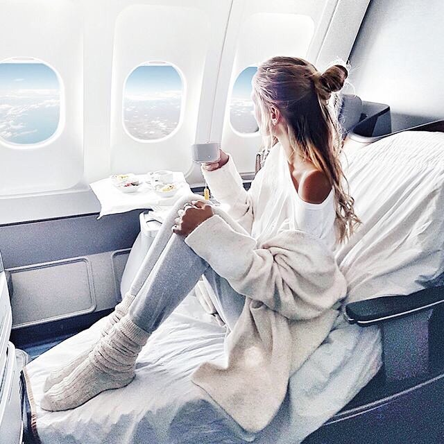 #ijustwokeuplikethis ... Crushing on @ohhcouture in this dreamy photo. I think that part of what makes it so look so nice is the fact that she's not sitting on a dingy airplane seat but rather clean looking sheets. Ideas like these inspired me to create an easy to use seat cover that basically transforms your seat into a lovely place to sit, sleep and comfortably dream of what to do when you get there. Get a little piece of luxury in the sky with a NiceSeats cover for a completely #cleangetaway. #headintheclouds . . . . . . #travellikeaboss #frequestflyer #sitinstyle #niceseats #inflight #ontheplane #alwaysacleangetaway #airplaneseatcover #traveltips #travelbag #takemewithyou #letsgoeverywhere #keepitclean #itsinthebag #ownit #travelaccessories #travelaccessory  #travelsmart #businessclass #firstclass #traveldiaries #travelersnotebook #traveler #travelgoals #travelblogger #sleepontheplane