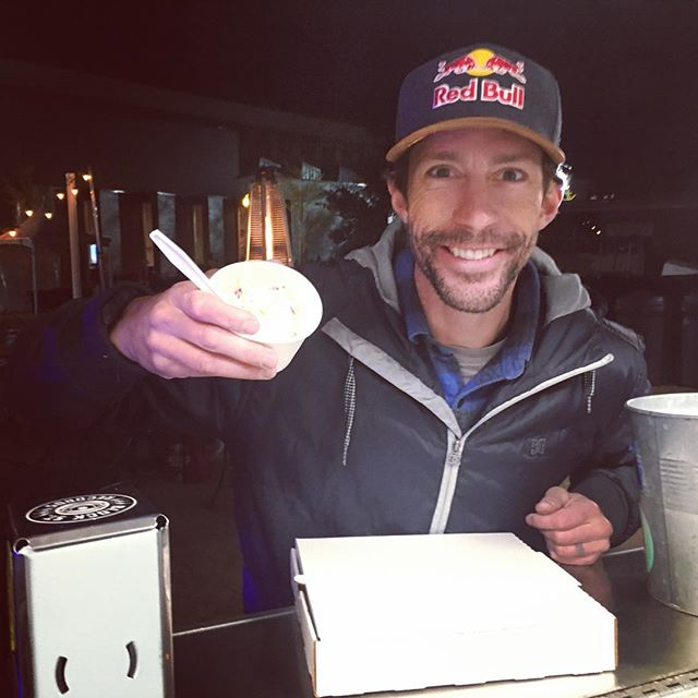 Travis Pastrana stopped by to hang out and grab a couple scoops! Come down this weekend and grab some Maple Bacon Brittle, Popcorn Caramel, Pumpkin Pie, or Cinnamon Roll with dark rum!