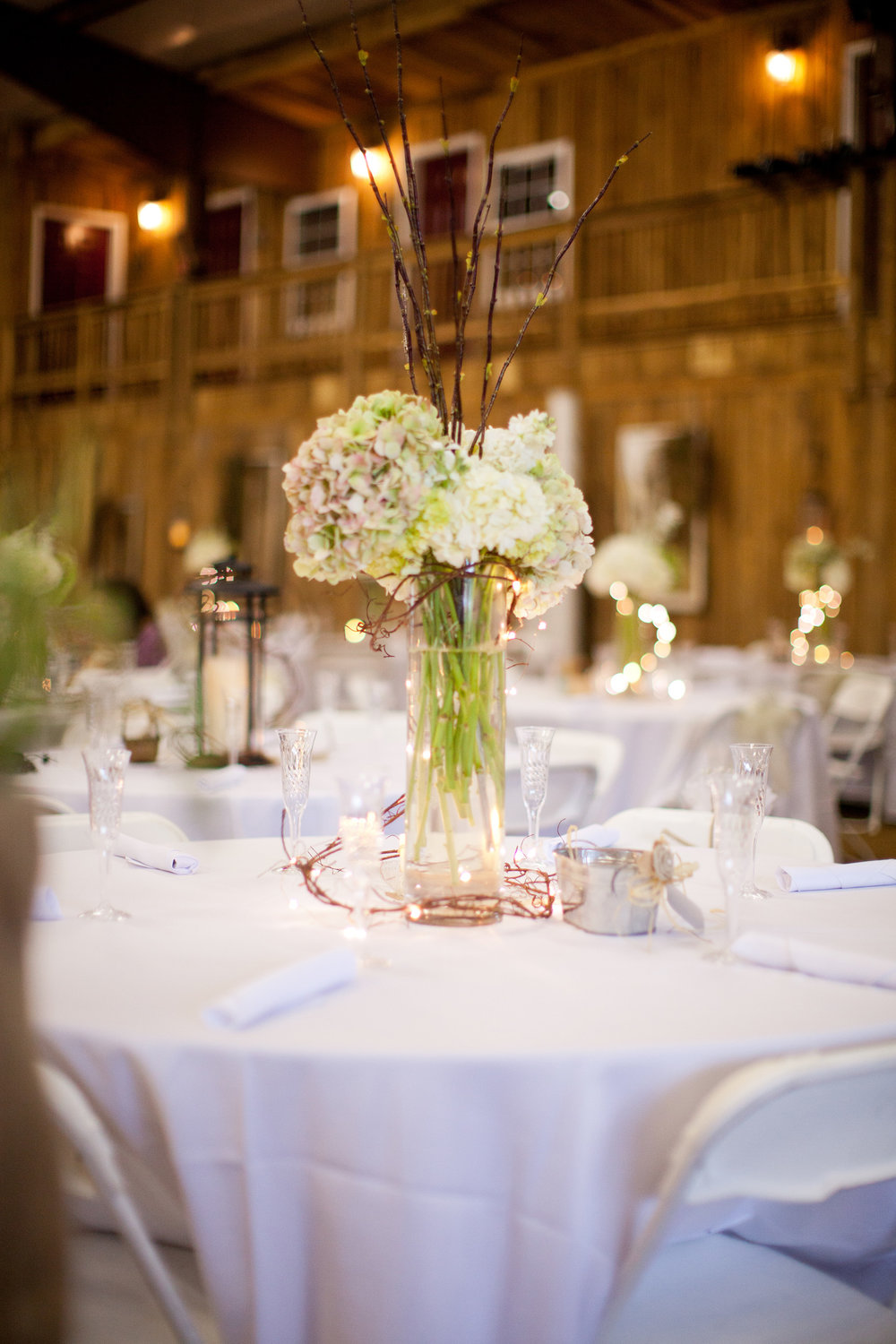 White Flower Tablescape Wedding
