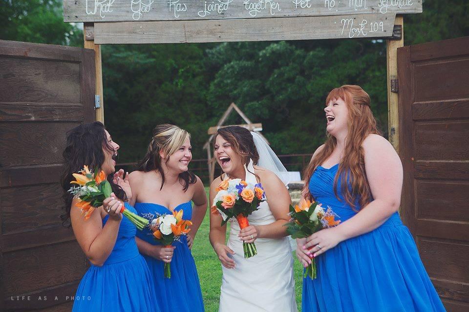 Blue Bridesmaids Archway