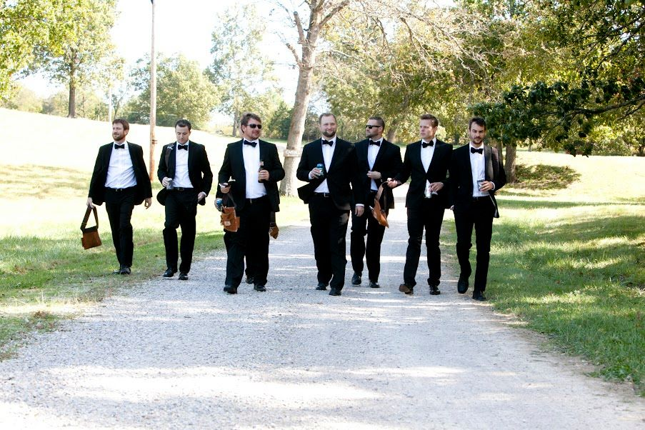 Groomsmen Ranch Wedding