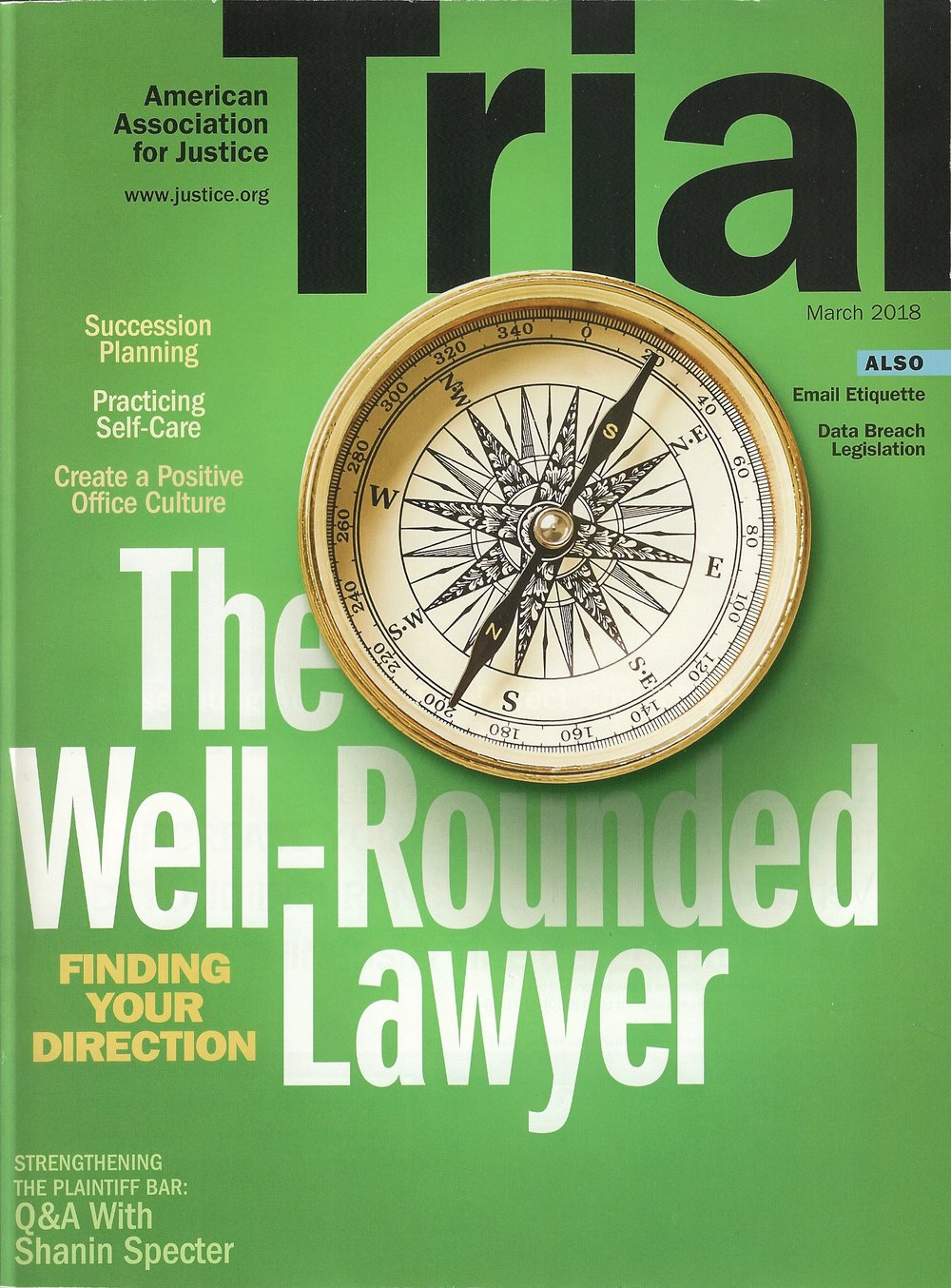 Trial, March 2018 - There is a ton of great information and writing in here this month other than my little blurb, so check it out.