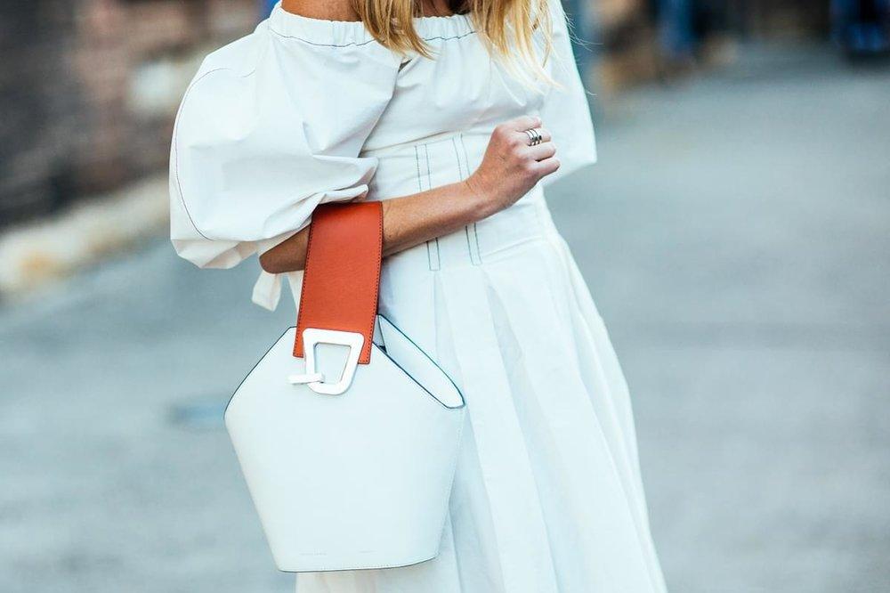Carrying Danse Lente during Australia Fashion Week