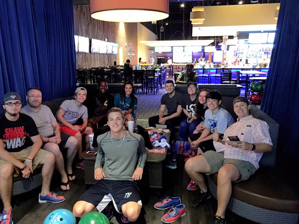 Village Students on a recent outing to Stars & Strikes.