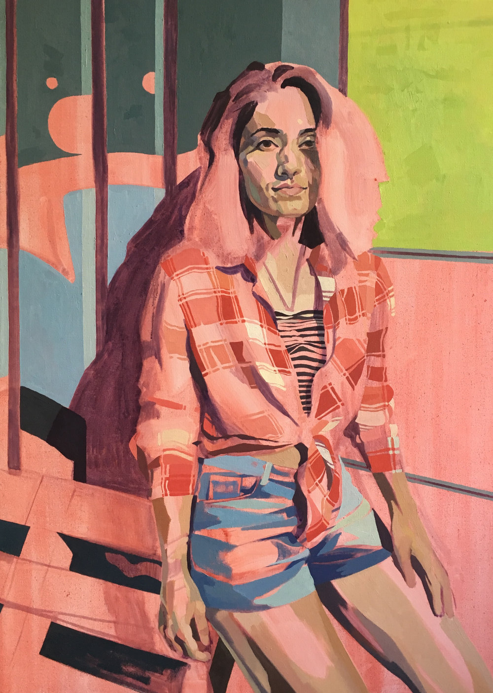 The Chequered Shirt, oil on canvas, 100 x 70 cm, 2016