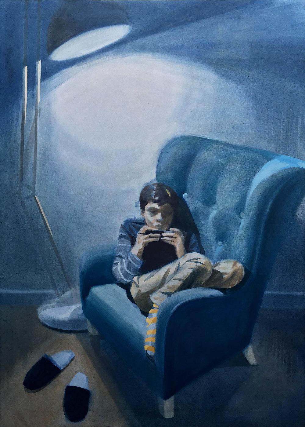 Connected III_Mariia Vashchuk_oil on canvas