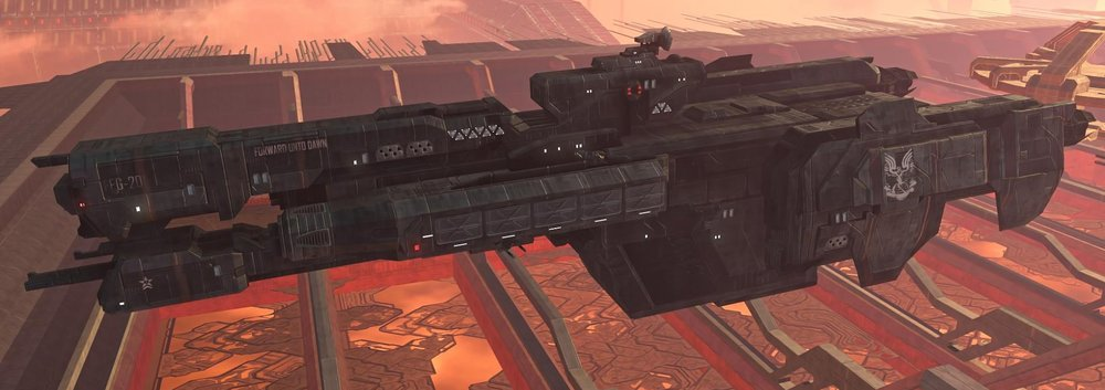 FORWARD UNTO DAWN - TYPE: Charon-class light frigateDESTRUCTION DATE: December 11th, 2552