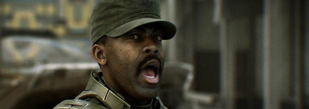 AVERY JOHNSON - Johnson was a key figure in the ending days of the Human-Covenant War, helping John-117 complete his missions at Alpha Halo, the Unyielding Hierophant, Earth, Delta Halo, and the Ark.