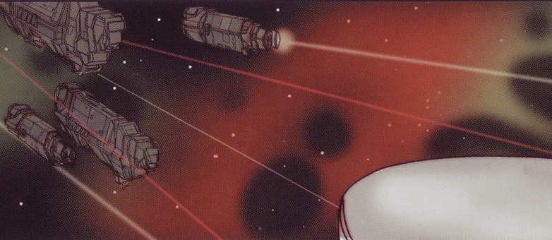 BATTLE OF XI BOÖTIS A - The UNSC fleet in the XI Boötis A system, firing a volley of MAC rounds at the invading Covenant fleet, c. 2528.