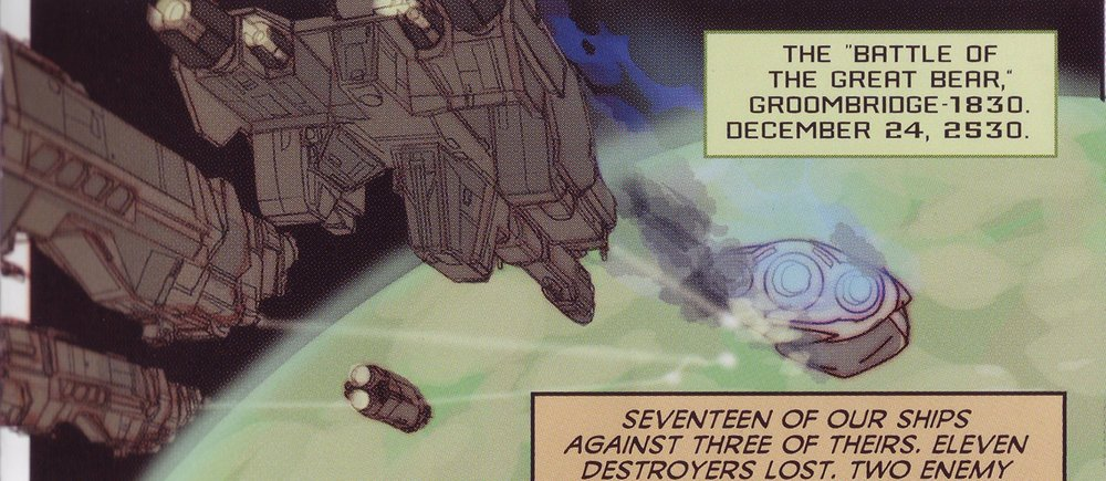 BATTLE OF THE GREAT BEAR - The Covenant assault carrier descending to the surface of the planet after being disabled during the battle, c. 2530.