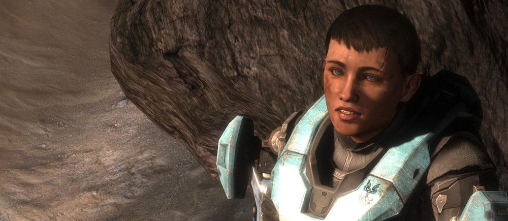 BATTLE OF NEW HARMONY - Spartan-III Beta Company member  Catherine-B320, shown during the Fall of Reach in 2552, was orphaned during the Battle of New Harmony and shortly after conscripted into the Spartan-III program, c. 2537.