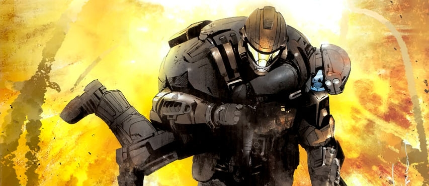 OPERATION: FIRESIDE - ODSTs Taylor Miles (Dutch) and Kojo Agu (Romeo) escape destruction of the ancient Forerunnercomplex discovered during Operation: FIRESIDE.