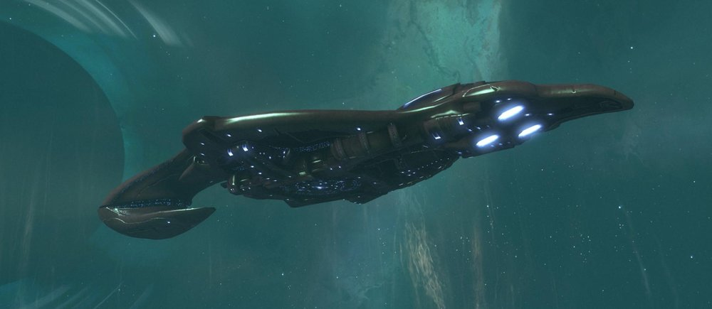 BATTLE OF BETA ERIDANI - The CovenantCSO-class supercarrier Long Night of Solace, the flagship of the Fleet of Valiant Prudence,c. 2552.