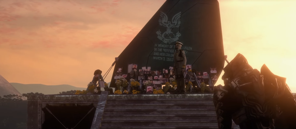VOI MEMORIAL IS ERECTED - Admiral Terrence Hood presiding over the ceremony at the Voi Memorial, March 3rd, 2553.