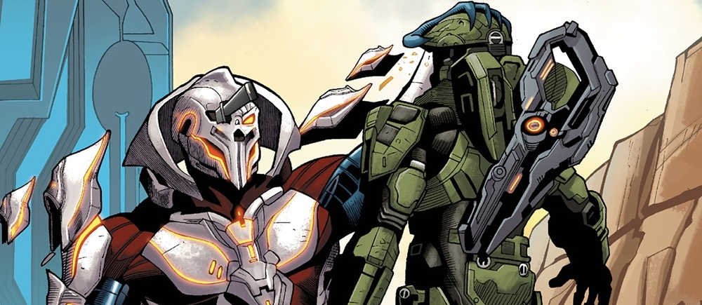 MISSION TO INSTALLATION 03 - The Ur-Didact, holding John-117 by his helmet during Blue Team's investigation of Installation 03, July 2557.