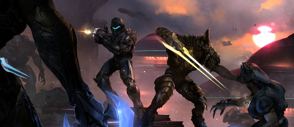 BATTLE OF SUNAION - Fireteam Osiris assaulting the last Covenant stronghold of Sunaion with Swords of Sanghelios leader Thel 'Vadam, October 27th, 2558.