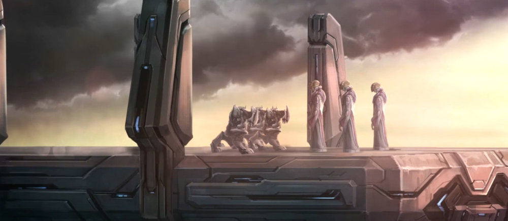 WRIT OF UNION SIGNED - 852 BCESangheili leaders bow to the San'Shyuum following the declaration of peace between the two species in 852 BCE.