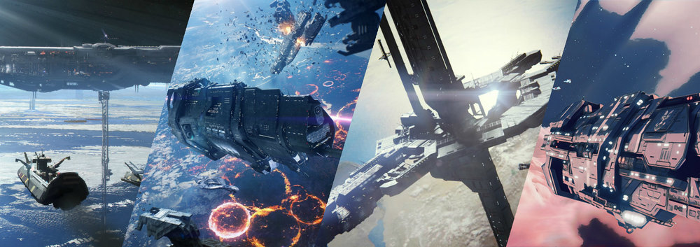 UNSC WARSHIPS - While unable to put up much of a fight head-to-head, the UNSC was able to put up a stiff defense against the Covenant using superior tactics and sheer numbers to slow their advance down considerably.