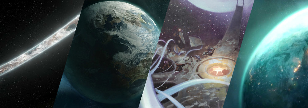 WORLDS - The events of Halo have taken the characters to countless locations throughout and beyond the galaxy. Many have been destroyed beyond recognition, and many more remain left to be discovered.