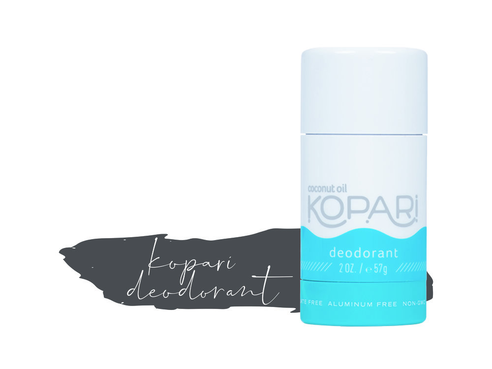 kopari | deodorant - This is one of my all time favorite scents in the world (in addition to the Dry Bar products). It reminds me of Hawaii! The best part is it's all vegan and has no aluminum.