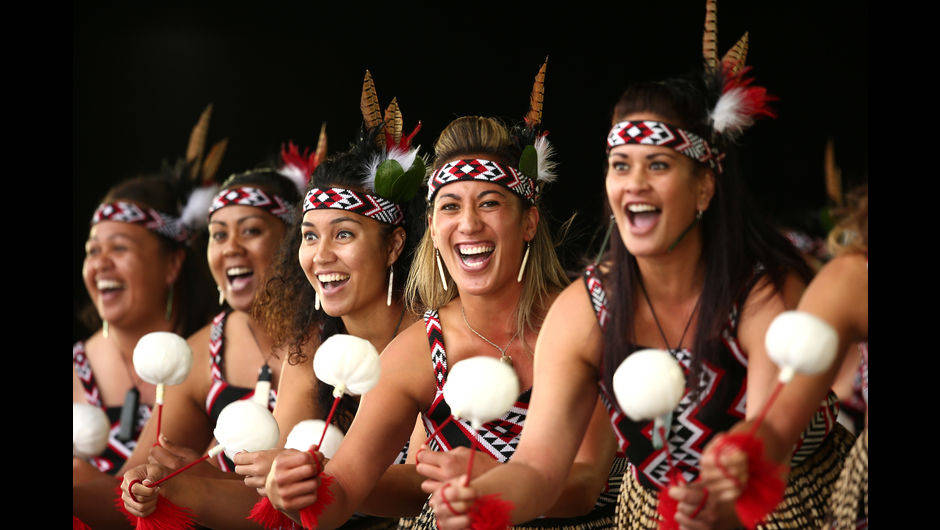 Te Whanau a Apanui performing at the 2015 Te Matatini National Kapa Haka Championships