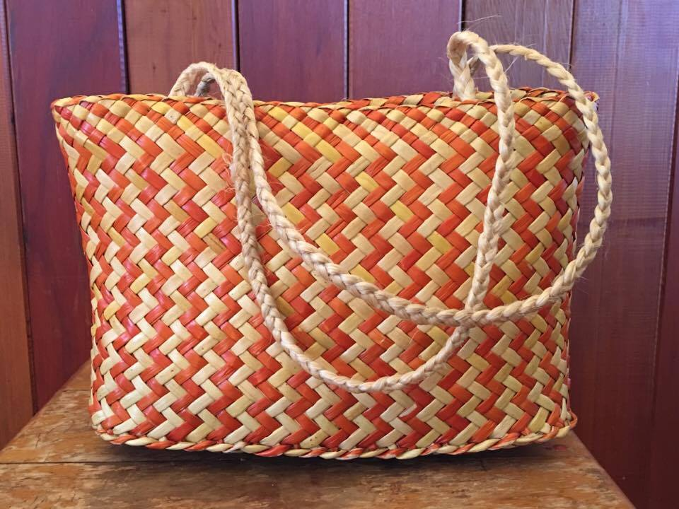 Kete woven by  Martha Hampton