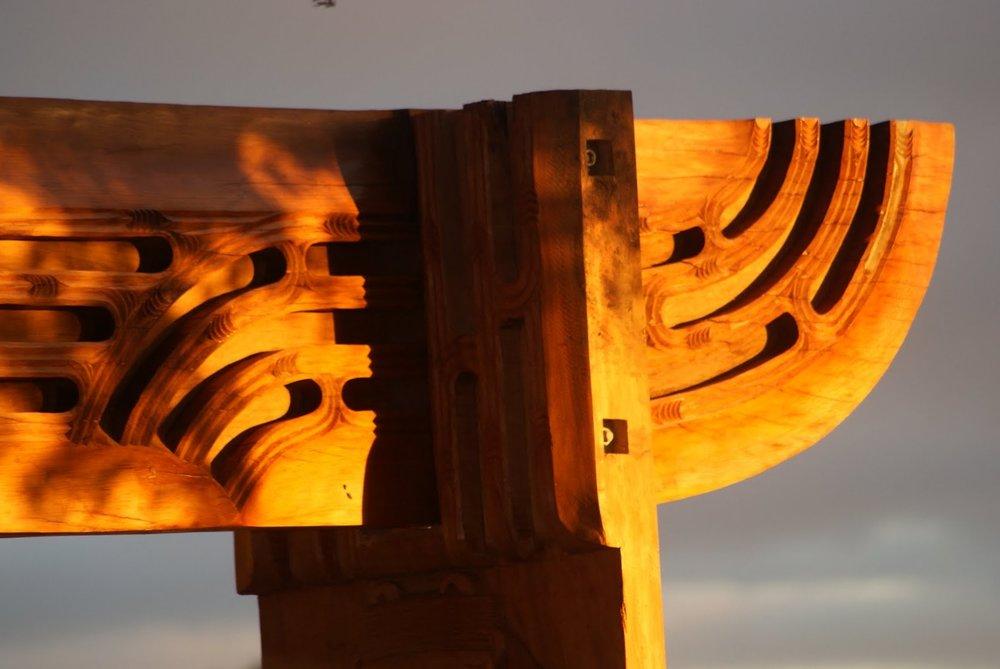 Waharoa by Katz Maihi and Boydie Te Nahu for Ngāti Whātua o Orakei. Image  Toitū Design
