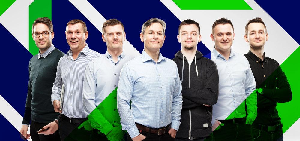 F.v. Tróndur, Súni, Rói, Snæbjørn, Eli, Jákup og Otto